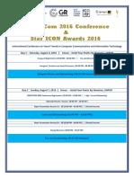 Schedule Smartcom 2016 Jaipur