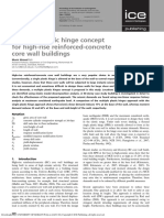 Multiple plastic hinge concept for high-rise reinforced-concrete core wall buildings