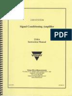 Signal Amplifier Manual
