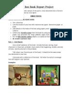 Shoe Box Book Report