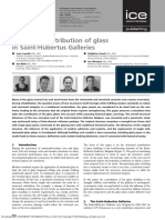 Structural contribution of glass in Saint-Hubertus Galleries