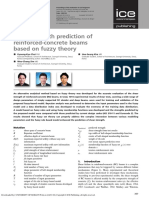 Shear strength prediction of reinforced-concrete beams based on fuzzy theory
