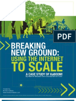 Breaking New Ground Using the Internet to Scale