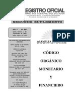 Codigo Organico Monetario y Financiero