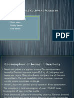 Beans and Peas Cultivars Found in Germany