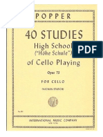 Popper David High School 40 Etudes Op 73 VIOLONCELLO