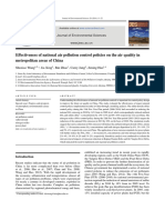 Effectiveness of National Air Pollution Control Policies on the Air Quality in Metropolitan Areas of China