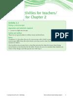 Teaching Notes Prac 2
