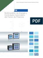 WEG Mmw y Pfw Multimedidor de Energia y Controlador Automatico Del Factor de Potencia