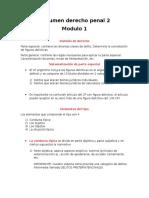 Resumen Derecho Penal 2 Modulo 1 siglo 21