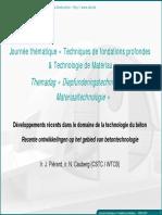 3 Technologie Du Beton Developpement Recents J Pierard