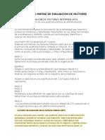 Transcripción de Matriz de Evaluación de Factores Internos Iuta