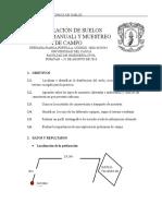 EXPLORACIÓN DE SUELOS (MÉTODO MANUAL) Y MUESTREO DE CAMPO