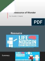 resource of wonder by oswaldo a  grajeda