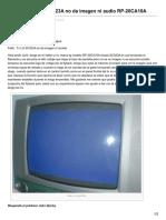 33 Falla en Tv Lg SC023A No Da Imagen Ni Audio RP 20CA10A
