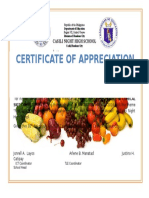 Certificate of Appreciation 2016