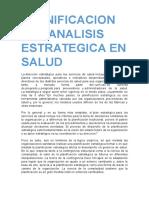 Planificacion Del Analisis Estrategica en Saludwird