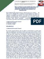 Acta de Asamblea General Extraordinaria Del 21 de Febrero Del 2014