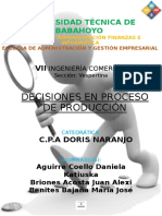 5.Decisiones en Proceso de Produccion