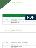 Cronograma de Quimica
