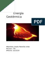 Trabajo Energia Geotermica