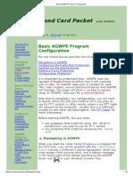 Basic AGWPE Program Configuration