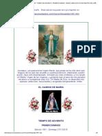 El Camino de Maria . Edicion 1051. Tiempo de Adviento. Primer Domingo