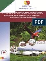 Norma y Protocolo Medicamentos de Alto Riesgo y Electrolitos Concentrados