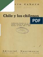 Chile y los chilenos - Alberto Cabero.pdf