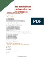 Ecuaciones Descriotivas Para Un Gradientador de Vasos Comunicantes