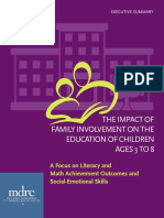 the impact of family imvolvement es