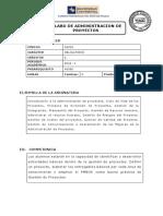 s - Administracion de Proyectos