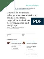 Cognicion Musical Relaciones Entre Musica y Lengua