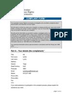 Complaint against Leak & the Australian pursuant to 18C by White Caucasian Woman