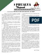 Zo Phualva Thupuak - Volume 01, Issue 10