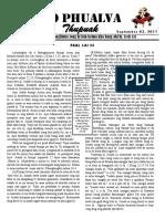 Zo Phualva Thupuak - Volume 01, Issue 11