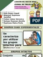 2) Diseño de Contrataccion Pre Experimental y Cuasi Experimental