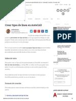 Crear Tipos de Linea en AutoCADAndréS Del Toro – Delineante, Consultor y Formador CAD