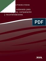 Methods Euthanasia Dogs Cats Spanish