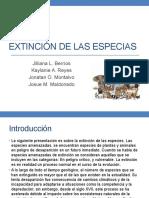 Extinción de Las Especias