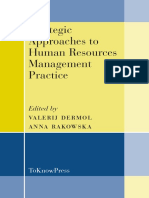 Strategic Approaches to Human Resources Management Practice-Dermol and Rakowska(2014)