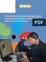 Orientações Técnico-pedagógicas Para Educacao Profissional de Pessoas Com Deficiencia