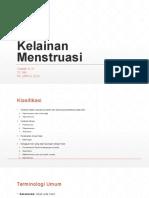 Kelainan Menstruasi