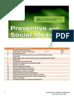 Preventive and Social Medicine MCQ