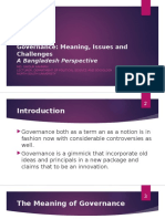 Governance - Meaning, Issues and Challenges