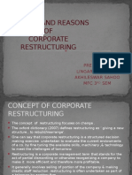 concept and reasons of corporate restructuring