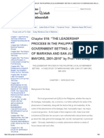 Chapter 016_ _the Leadership Process in the Philippine Local Government Setting_ a Case Study of Marikina and San Juan City Mayors, 2001-2010_ by Prof
