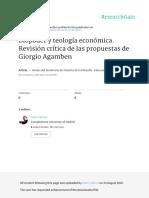 Biopoder y Teologia Economica Revision Critica de