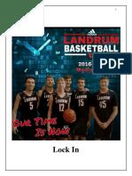 2016-2017 Landrum Basketball Media Guide