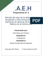 Desigualdad de Género y discriminación en México